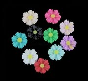 "Resin cabochon ""Marguerit - Daisy"" 9 mm. 50 stk."