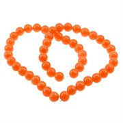 Imiteret Jade. 12 mm. Spraymalet. Orange