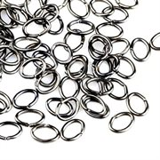 O-ringe. Oval. Gunmetal sort. 5.5 mm. 50 stk.