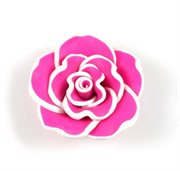 Fimo blomst. Rose. Pink. 30 mm