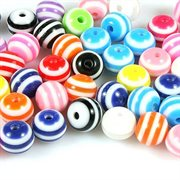 Resin perle mix. Candy. 8 mm. 50 stk.