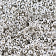 Glasperler - seedperler 8/0. 3 mm. Platineret. 150 stk.
