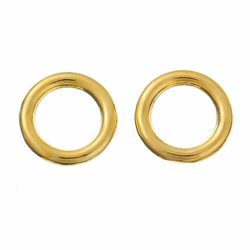 O-ring. Lukket. Forgyldt. 12 mm