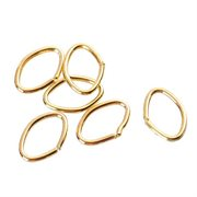 O-ringe. Oval. 14k forgyldt. 5.5 mm. 120 stk.