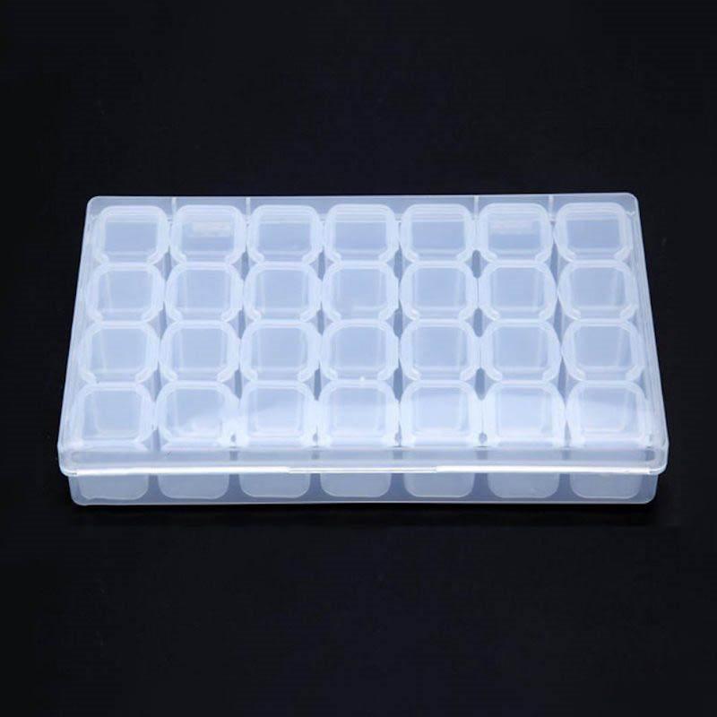 Plastæske Med 28 Udtagelige Små æskerrum 175 X 11 Cm